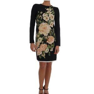 NWT  Dolce & Gabbana long-sleeved sheath dress